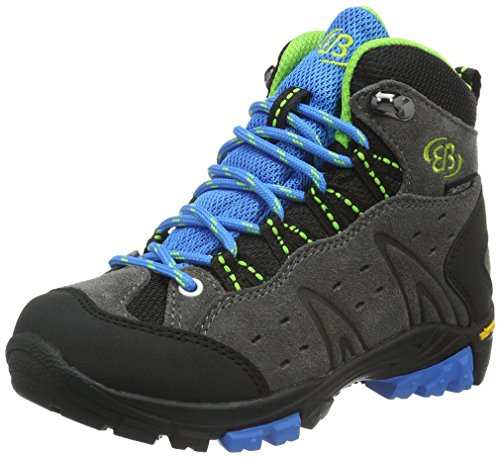 EB kids Mount Bona High Kids - Zapatos de High Rise Senderismo Niños Gris (Grau/blau/lemon)