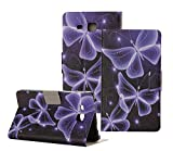 Tsmine Folio Case for Samsung Galaxy Tab A 7.0 - Lightweight Ultra Slim Folding Protective Cover Case Stand for Samsung Galaxy Tab A 7.0 Tablet 2016 Release(SM-T280 / SM-T285), Three Butterflies