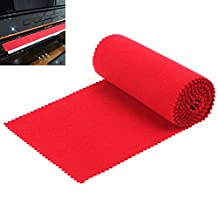 OriGlam Red Soft Piano Keyboard Dust Cover, 88 Keys Protective Dust Cover Key Cover for Electronic Keyboard, Digital Piano