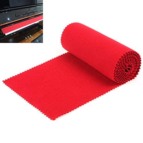 【Best Deals】OriGlam Red Soft Piano Keyboard Dust Cover,
