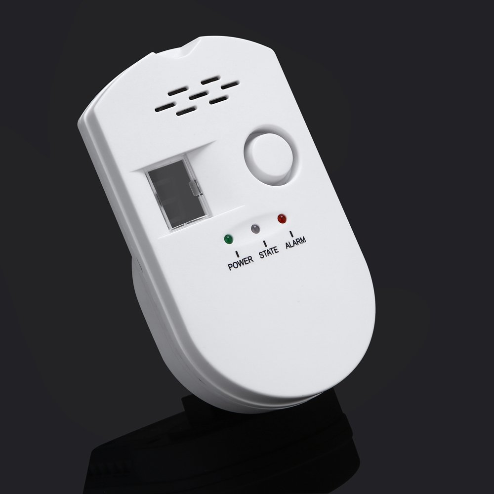 SODIAL Sensitive digital display flammable pipe alarm gas detector gas detector kitchen monitoring sensor US Plug by SODIAL (Image #3)