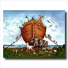 Noahs Ark Animal Religious Kids Room Wall Picture Art Print