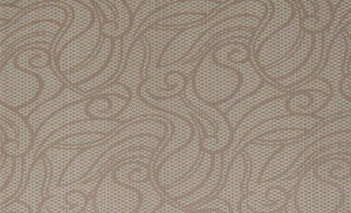 Vliestapete / Strukturtapete mit geschwungenen Ornamenten in Braun, Camel