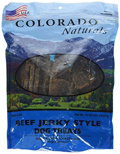 - Beef Jerky Dog Treats. Made in USA with 100% U.S.D.A. Beef. 1Lb by Colorado Naturals
