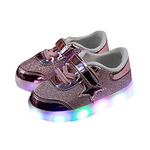 Kleinkind Schuhe,Chshe Baby-Art- und Weisestern-Turnschuh-LED-leuchtendes Kind-Kleinkind-beiläufige helle Schuhe Rosa