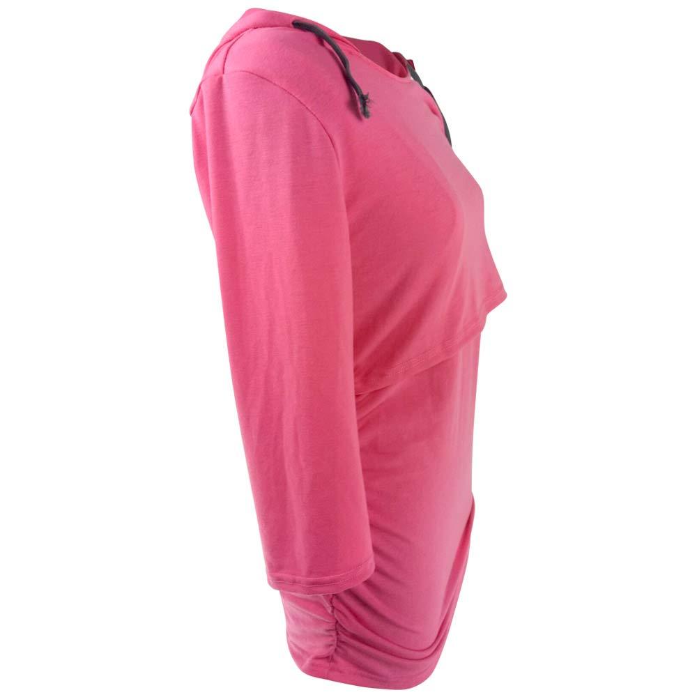 wocharm Nursing Hoodie Womens Breastfeeding Sweatshirt Top Maternity
