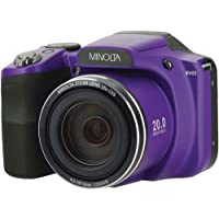 Minolta 20 Mega Pixels High Wi-Fi Digital Camera with 35x Optical Zoom, 1080p HD Video & 3 LCD, Purple (MN35Z-P)