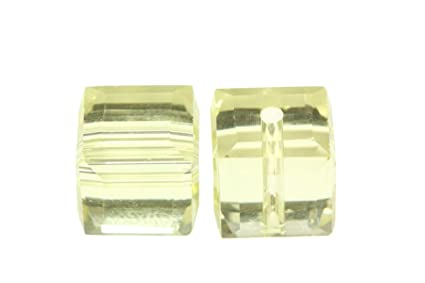 d657c90a1 Amazon.com: 50 8mm Adabele Austrian Cube Crystal Beads Jonquil ...