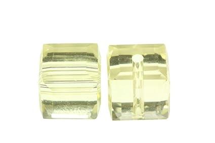d92e65219 Amazon.com: 50 8mm Adabele Austrian Cube Crystal Beads Jonquil ...