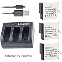 Kastar Battery (3-Pack) & USB Triple Charger for GoPro HERO5, Hero 5 Black, Gopro5 and GoPro AHDBT-501, AHBBP-501 Sport Camera (Compatible with Firmware v01.57, v01.55 and Future Update)