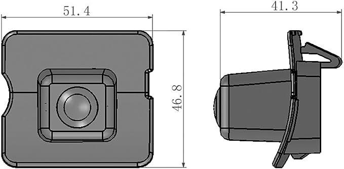 Color Marcha Atr/ás Integrada en la matr/ícula LED matr/ícula C/ámara con l/íneas de Distancia para Mercedes Benz M ML W164 W251 X164 ML250 ML300 ML350 ML450 GL R Class MB W164 280 300 350 450 500
