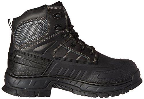 Skechers Para bota de trabajo de acero del dedo del pie Vinton Trabajo Negro