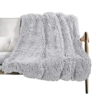 "ST. BRIDGE Faux Fur Throw Blanket, Super Soft Lightweight Shaggy Fuzzy Blanket Warm Cozy Plush Fluffy Decorative Blanket for Couch,Bed, Chair(50""x60"", Light Grey) - HIGH QUALITY MATERIAL: Made of 100% microfiber polyester.This faux fur throw blanket is super soft, Supper Long Plush, and Warm. The plush blanket is fade resistant, doesn't shed.Suitable for all seasons and travel . It's fade resistant, doesn't shed.Suitable for all seasons . APPLICABLE PLACE : Throw-51""x63"",suitable for chair ,couch , bed and living room as decorative blanket,bed blanket ,sofa blanket.The shaggy sherpa throw blanket is very soft, cozy and fuzzy. Perfect for home decor and late night cuddling.Perfect for covering feet up to shoulder level for snuggling to watch TV together or relaxing. EASY TO CARE: Throw blanket is a luxurious cozy faux fur blanket. MACHINE WASH on gentle cycle with cold water. Do not tumble dry .Do not Iron.Do not dry clean. - blankets-throws, bedroom-sheets-comforters, bedroom - 517dueCE3kL. SS400  -"