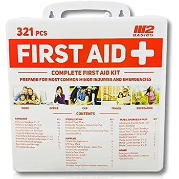 M2 Basics 321 Piece Premium First Aid Kit W Hard Case