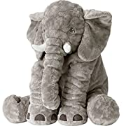 Big Stuffed Elephant Stuffed Animals Plush Toys In Grey, Large Size, 24 inch/61cm