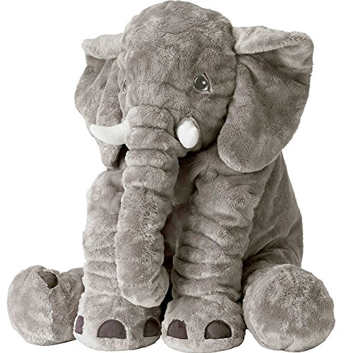 Stuffed Elephant Animals Plush Toys%EF%BC%8CGrey product image
