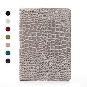 MOFY- Patr—n del cocodrilo caja de la PU de cuero para Samsung Galaxy Note 10.1 P600 (varios colores) , Gris