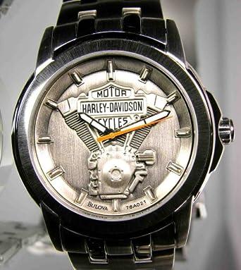 Amazon.com: Harley-Davidson® Men's Bulova celet Watch 76A021 ...