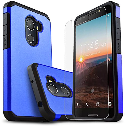 STARSHOP T-Mobile REVVL Case, Alcatel A30 Plus Case, Alcatel A30 Fierce Case, Jitterbug Smart 2 Case, with [Premium Screen Protector] [Shock Absorption] Dual Layers Protective Phone Cover -Blue