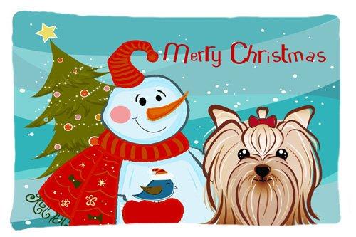 Carolines Treasures BB1595PILLOWCASE Christmas Tree and Boxer Fabric Standard Pillowcase Large Multicolor