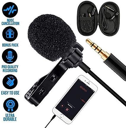 Micrófono de Solapa, omnidireccional lavalier Micrófono de ...