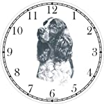 English Springer Spaniel Dog (MS) Wall Clock by WatchBuddy Timepieces (White Frame) 6