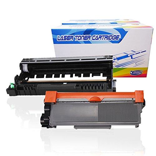 Inktoneram Compatible Toner Cartridge & Drum Replacement for Brother TN660 TN630 DR630 DR-630 TN-660 TN-630 DCP-L2520DW DCP-L2540DW HL-L2300D HL-L2320D HL-L2340DW HL-L2360DW HLL2380DW (Drum,Toner,2PK)
