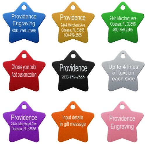 517dwjZShhL - Providence Engraving Aluminum Pet ID Tags for Cat and Dog