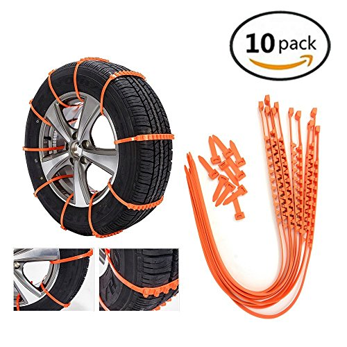 VSTM Traction Aid for Portable Traction Aid Anti-slip Chain Vehicle Snow Chains Ice & Snow Traction Cleats for Bad Weather