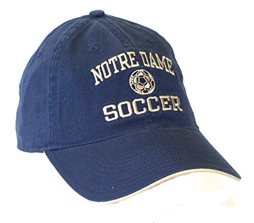 NCAA Officially Licensed Notre Dame Slouch Fit Distressed Soccer Ball Soccer Hat Cap Lid - Irish Notre Dame Soccer Ball