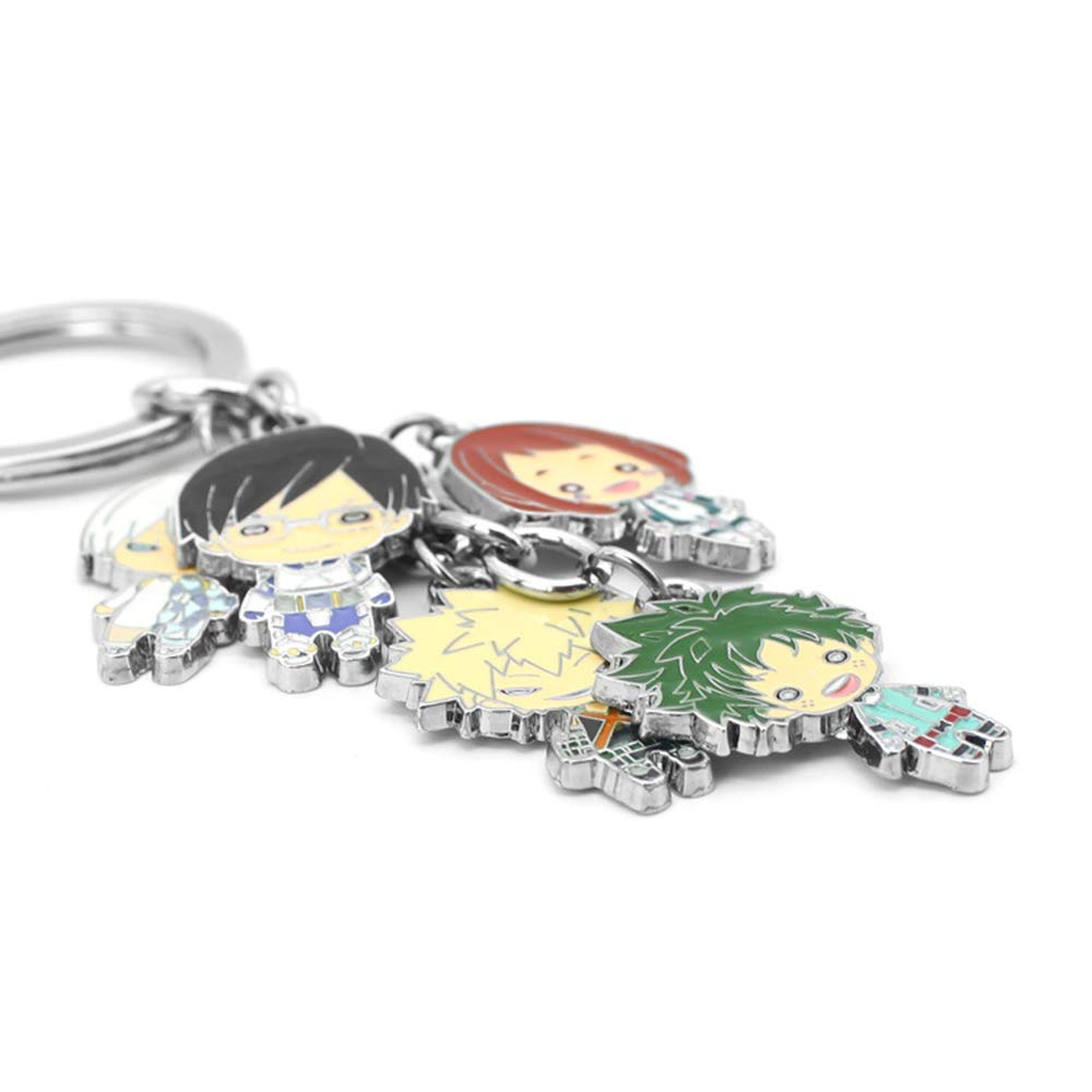 My Hero Academia Boku No Hero Academia Figure Keychain Key Ring Alloy Metal Pendant