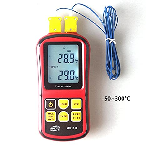 Amazon.com: Benetech GM1312 Digital Thermometer Termometro -50~300C Temperature Meter for J K T E N R S Type Thermocouple: Cell Phones & Accessories
