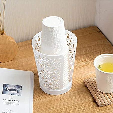 Scrox 1x Portavasos Practico Vasos Desechables Vaso de Papel Estanteria Organizador Cocina Creativo Diseño (Azul): Amazon.es: Hogar