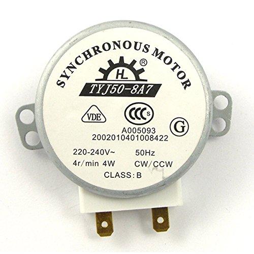 WINOMO TYJ50-8A7 Motore Sincrono per Forno a Microonde Girevole, CWCCW, 4W ,AC 220V-240V, 4 RPM