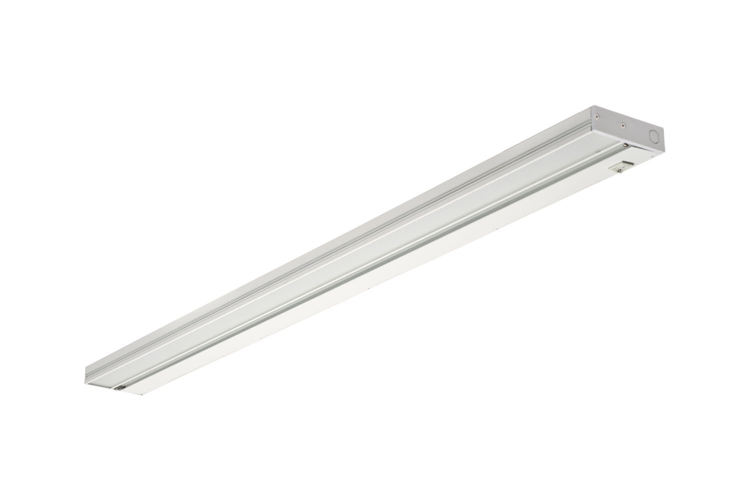 NICOR Lighting Slim 40-Inch Dimmable LED Under-Cabinet Lighting Fixture, White (NUC-3-40-WH)