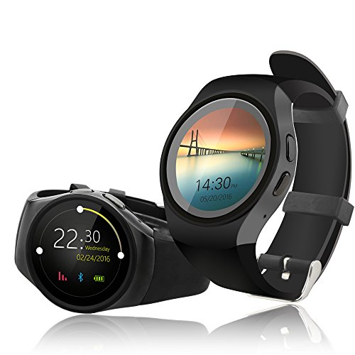 Amazon.com: Indigi A18 Android SmartWatch w/ Pedometer + Heart Rate Sensor + Bluetooth 4.0 + SMS & Notification + Dial and Pickup: Cell Phones & Accessories