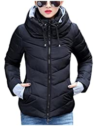 Pivaconis Womens Winter Cotton-Padded Down Coat Puffer Warm Parka Jacket