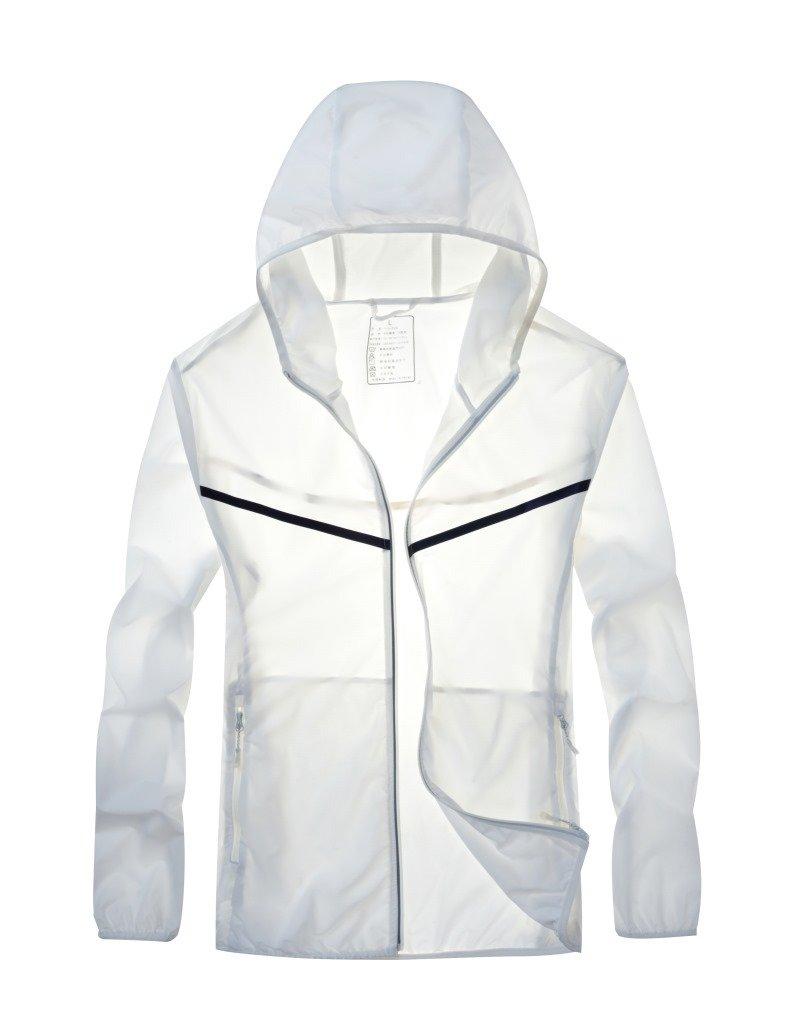 Bailinabai Sport Im Freien Kleidung, Haut, Männer Ist Dünn, Atmungsaktive Sonnencreme,Weiße,XL