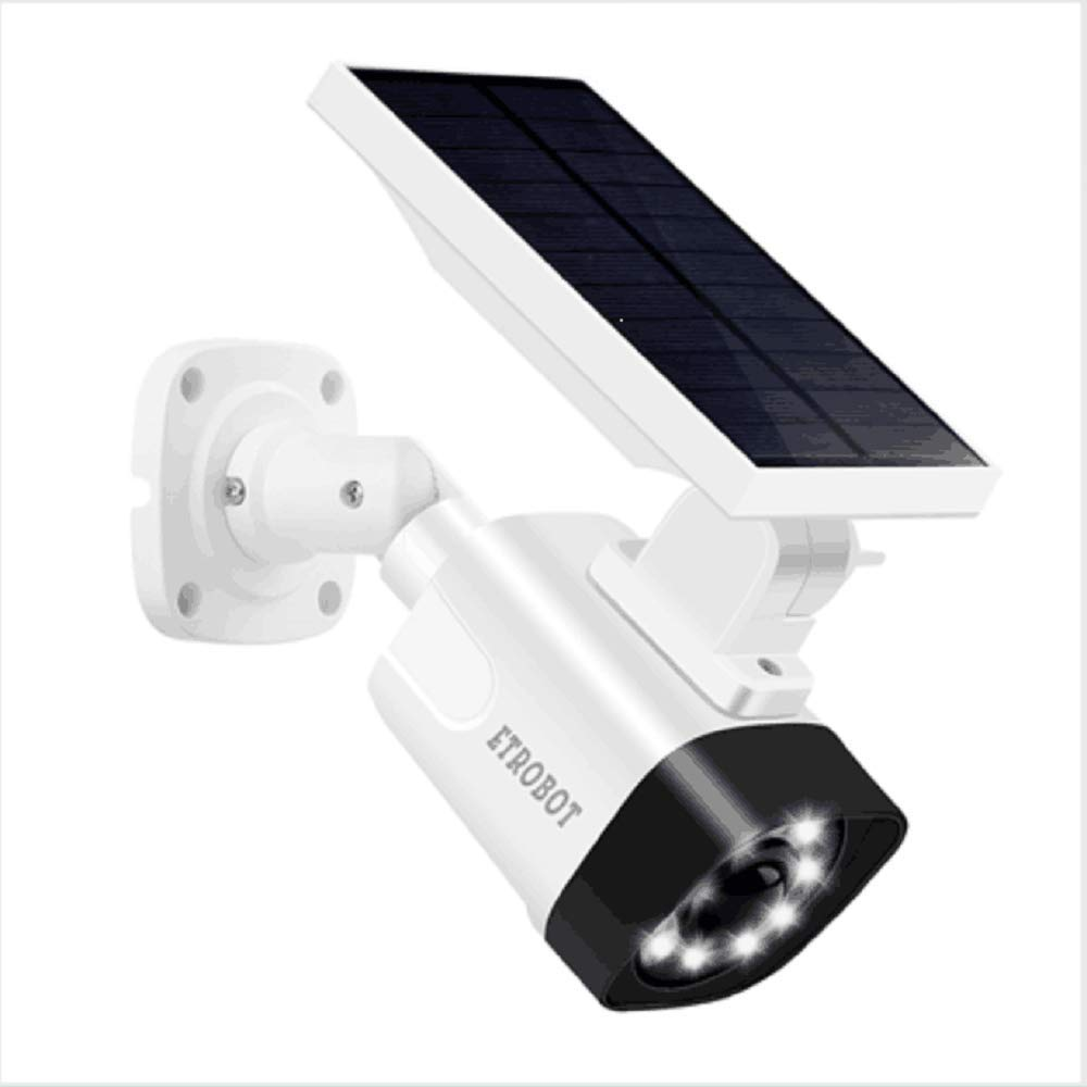 Solar Powered Motion Sensor Light and Dummy Fake Security Camera Combo with PIR Activated 800 Lumen Spotlight, IP66 Waterproof Solar Night Light Outdoor for Yard, Garden, Driveway, Patio by ETROBOT