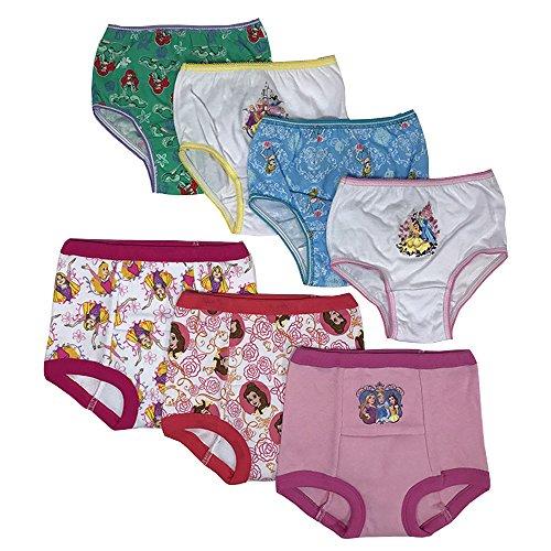 Disney Princess Girls Potty Training Pants Panties Underwear Toddler 7-Pack Size 2T 3T 4T (Princess Disney Training Potty)