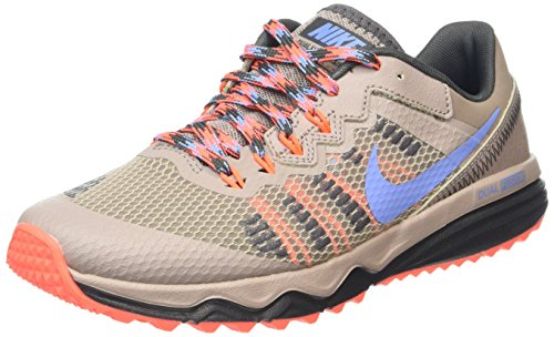 Nike Wmns Dual Fusion Trail 2, Zapatillas de Running para Mujer Beige (Malt / Chalk Blue-Hyper Orange)