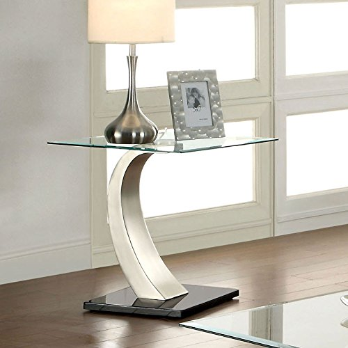 247SHOPATHOME IDF-4728E End-Tables, Chrome