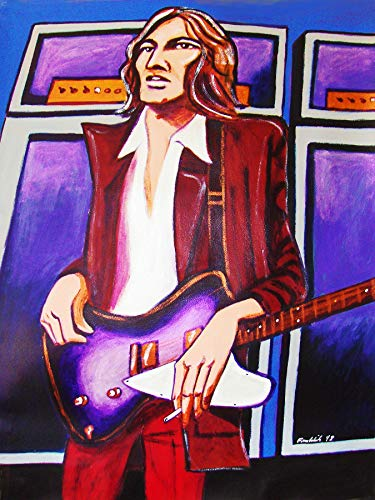 ERIC CLAPTON PAINTING man cave fresh cream wheels of fire gibson guitar marshall amp - Eric Clapton Amps