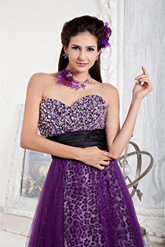 Lila Schatz Abendkleid bodenlangen GEORGE BRIDE Leopard Tuell T7qPwTAxY