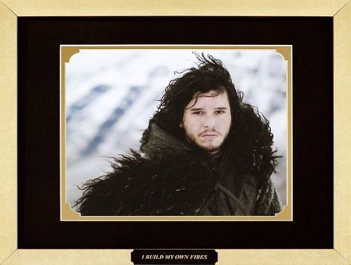 Game of Thrones - Kit Harington as Jon Snow. Framed Movie Photo with Plate (15 x 12)