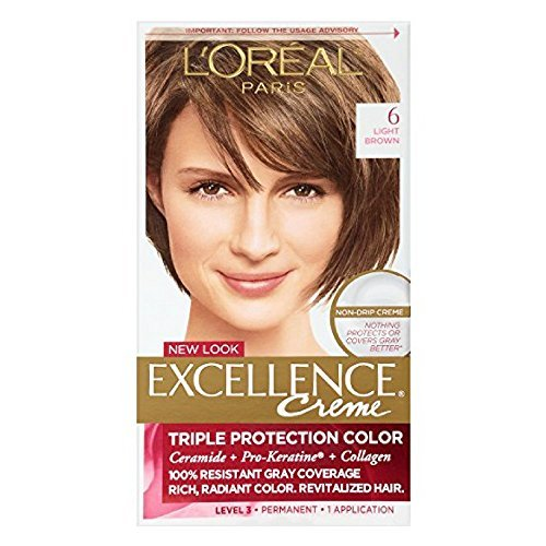 L'Oreal Excellence Creme, Light Brown [6] 1 Each (Pack of 3) -  L'Oreal, U-HC-3487