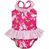 i play. Baby Girls' Ruffle Swimsuit with Built-In Reusable Absorbent Swim Diaper