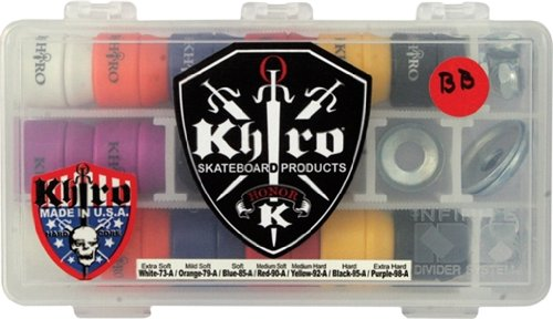 Khiro Skateboard Truck (Khiro S-Cone/L-Barrel Combo Bushings Complete Kit)