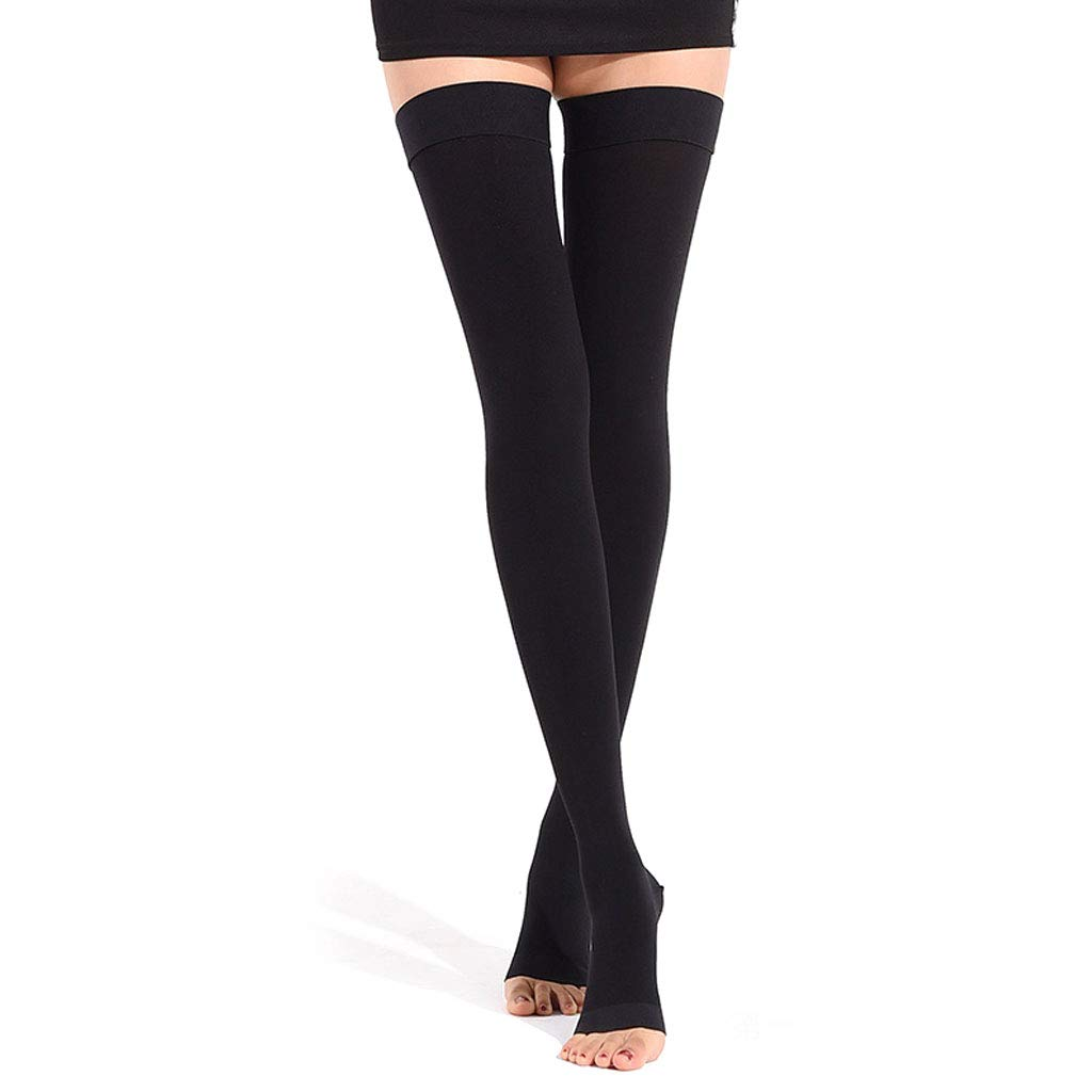 Varicose Stockings Treatment Type Medical Female Male Pressure Elastic Surgery postoperative Medical antithrombotic Nursing Calf varicose Socks,level2blackB,S DONGBALA