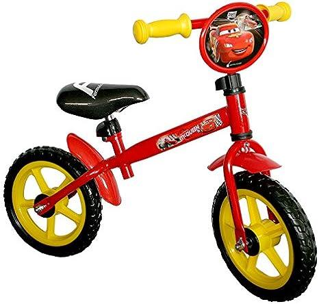 Cars 808959 - Bicicleta sin Pedales (diametro Ruedas 30,5 cm), Color Rojo: Amazon.es: Deportes y aire libre